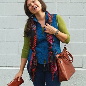 Woman Enjoying New Bag